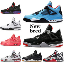 Lebron shoes size online shopping - Jumpman s Shoes Travis Scotts CACTUS JACK Womens Mens New bred Raptors KAWS IV Tattoo Hot Punch Lebron Lakers size
