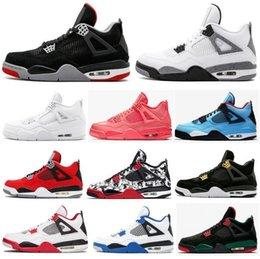 $enCountryForm.capitalKeyWord NZ - With Box High Quality 4 New Bred White Cement Pure Money Basketball Shoes Men Women 4s KAWS Tattoo Royalty Toro Bravo Sports Sneakers