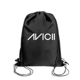 Strung Feathers Australia - Drawstring Sports Backpack In memory of Avicii simple white Logopopular durable Travel Beach Pull String Backpack