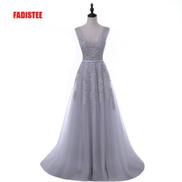 wedding dress petal appliques Australia - Fadistee Elegant Long Bridesmaid Dresses Appliques Lace Beading Lace-up Style Wedding Party Dress Under 50$ Y19072901