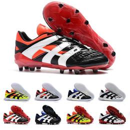 9650b0fb524e Original High Quality Mens 98 Predator Football Boots Triple White Black  Dream Yellow FG IC Soccer Shoes Designer Sports Sneakers Size 39-46