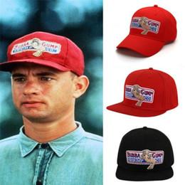 Vente en gros 1994 BUBBA GUMP SHRIMP Casquette de baseball Forrest Gump Hommes Femmes Sport Chapeaux Casquette d'été Brodé Chapeau Casual Chapeau Hip Hop Cap D'été Snapback