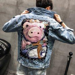 $enCountryForm.capitalKeyWord Australia - Men's Jacket Spring New Loose Super Fire Patch Embroidered Denim Clothing Slim Denim Jacket Youth Casual Men's Clothing
