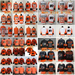 $enCountryForm.capitalKeyWord Australia - 2019 Stitched adlads Men kids women Flyers Blank 17 SIMMONDS #19 PATRICK #28 GLROUX #93 VORACEK White Orange Black Ice Hockey Jerseys Youth