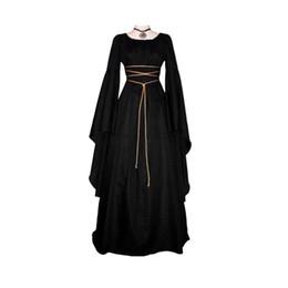 $enCountryForm.capitalKeyWord Australia - 2018 Fashion Bandage Long Renaissance Gothic Dress Women Peasant Dresses Medieval Renaissance Vintage Long Sleeve Girl Dress T4190614