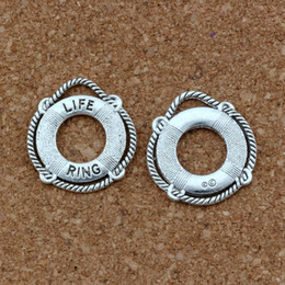 Ring Slides Australia - LIFE RING Charm Pendants 100Pcs lot Antique silver Fashion Jewelry DIY Fit Bracelets Necklace Earrings 21.8x23.5mm A-418