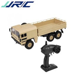 Discount electric road cars - wholesale Q64 1 16 2.4GHz 6WD RC Military Car Off-road Rock Crawler Car RTR Toy 6 Wheels Racing Car Toys For Kids Christ