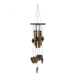 Plastic wind chime online shopping - Eco Friendly Love Heart Tubes Wind Chimes Outdoor Living Yard Garden Decor Hanging Decorations Campanula Wind Chimes