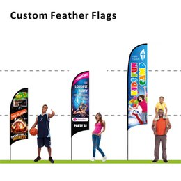 $enCountryForm.capitalKeyWord UK - Dropshipping Free Design Custom Advertising Feather Concave Convex Straight Angled Flag Style 110g Knitted Polyester Beach Banner Flag