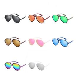 e288f786c4 Moda Niños Personalidad Gafas de sol Niños Rana Espejo Gafas de sol Gafas  Anti-UV Gafas de película de color Gafas Adumbral A ++