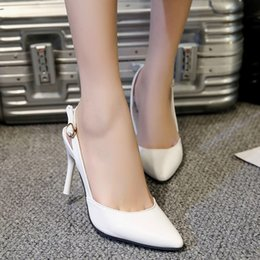 Woman High Comfortable Shoes Australia - Designer Dress Shoes Fashion Women Pointed Toe Buckle Strap Comfortable Work High Heel Party T80726