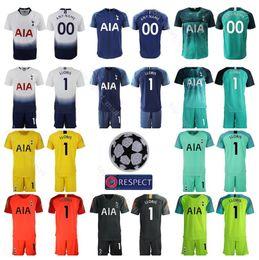 Soccer jerSey number kit online shopping - Goalkeeper GK Goalie Hugo Lloris Jersey Set Men Hot Spur Soccer Vorm Gazzaniga Football Shirt Kits Uniform Custom Name Number