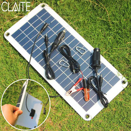 $enCountryForm.capitalKeyWord Australia - polycrystalline CLAITE 10.5W 18 Polycrystalline Panel Charger Sunpower Solar Cells For Camping Car 12V Battery 5V Mobile Phone Solarparts