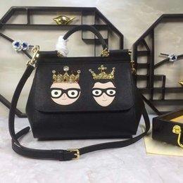$enCountryForm.capitalKeyWord Australia - Large family series handbags multi-color imported cowhide hand-sewn pattern single shoulder slanting lady bag