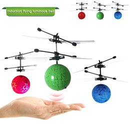$enCountryForm.capitalKeyWord Australia - Flying Luminous Balls Toys Kid's Flying Ball Mini LED Drone Helicopter Infrared Induction Aircraft Remote Control Birthday Gift