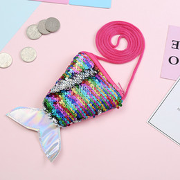$enCountryForm.capitalKeyWord NZ - 2019 Brand New Adult Kids Baby Girl Boy Sequin Coin Purse Cartton Fish Tail Laser Colorful Purses Bags Scales Kids Wallet Gifts