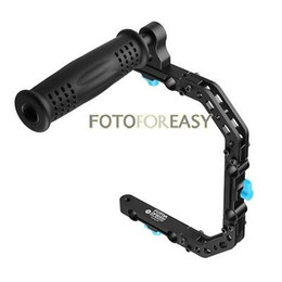 $enCountryForm.capitalKeyWord NZ - Freeshipping DP3000 C-Shape Support Cage Bracket +Top Handle Grip for 15mm Rod DSLR Rig