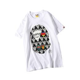 $enCountryForm.capitalKeyWord UK - New Summer Lover Cartoon Hot Stamping Black White T-shirts Teenager Casual Loose Round Neck Short Sleeve T-Shirt