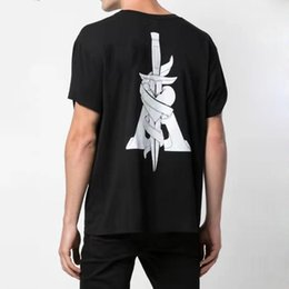 20ss AM1R1 Printed Tee punk High Street Skateboard maniche corte Estate T-shirt Solid Moda Uomo casuale delle donne T HFYMTX743