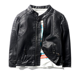 $enCountryForm.capitalKeyWord NZ - Baby Kids PU Leather Jackets Boys Rivet Coat 2019 Spring New Children Outwear For Baby Boys Costume Teens Locomotive Coat