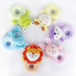 $enCountryForm.capitalKeyWord Australia - Baby Animal Soft Plush Stuffed Cartoon Kids Rattle Stick Toys Hanging Hand Bells Children Gift Grasp Game Elephant Bell LJJT411