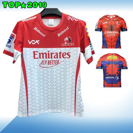 Rugby Tee Australia - 2019 New Super Rugby Mens Junior South African Emirates Lions The Lions Marvel Comic SuperHero Spiderman Fan Tee Spider-man Marvel Jersey