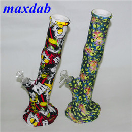 water pipe free shipping NZ - New silicone smoking water pipes silicone hookah unbreakable hookah filter glass bong dar rig for free shipping