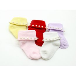 Colorful Infant Socks Australia - Lovely Newborn Baby Warm Lace Socks Pearl Cotton Arrival Princess Ruffle 2019 Flower Infant Colorful Pure Socks New