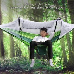 camps hammock swing NZ - 1-2 Person Camping garden Portable Hanging Bed Strength Parachute Fabric Hammock Outdoor Sleep Swing Prevent mosquitoes