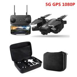 Ingrosso Nuovo Drone GPS 1080P HD Camera 5Ghz Seguimi WIFI FPV RC Quadcopter Pieghevole Selfie Live Video Altitude Hold Ritorno automatico RC Dron