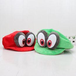 $enCountryForm.capitalKeyWord Australia - Super Mario Red Green Odyssey Wearable Caps Mario Luigi Adjustable Cotton Costume Halloween Plush Dolls Hot Toys