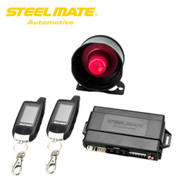 $enCountryForm.capitalKeyWord Australia - Freeshipping Steelmate Car Alarm Keychain 888E Two LCD Alarm Auto Security System with Remote Start System Keyless Entry Door Button Device