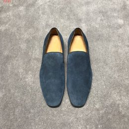 American Leather Shoes Australia - 2019 new European and american style business leather shoes ,new international brands Genuine leather flat men shoes ZM41