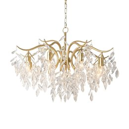 $enCountryForm.capitalKeyWord UK - American Classic Crystal 3 6 8 arms chandelier lights for Living Room bedroom gold iron e14 Candle bulb led chandelier lamps