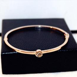 $enCountryForm.capitalKeyWord Australia - super glittering! New fashion ins luxury designer diamond zircon titanium bangle bracelet for woman girls rose gold 18cm