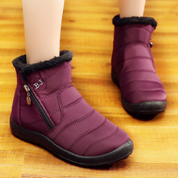 $enCountryForm.capitalKeyWord UK - Women Boots Waterproof Snow Boots For Women Winter Shoes Plus Size Ankle Woman Shoes Zipper Botas Mujer For Winter Booties