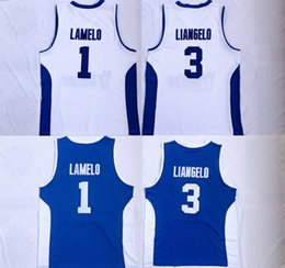 basketball jersey xxl Australia - Hot High-quality Men Lithuania Prienu Vytautas Basketball Shirt 1 LaMelo Ball Jersey 3 LiAngelo Ball Uniform Blue White Stitched Shirt S-XXL