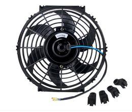 Universal Kit Black 10 inch Slim Fan Push Pull Electric Radiator Cooling 12V on Sale
