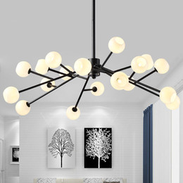 modo light Australia - Modern magic beans DNA Lustres LED pendant light industrial Modo Jason miller lamps Nordic Art Deco glass ball chandelier light 90-265v