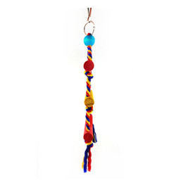 $enCountryForm.capitalKeyWord UK - Parrot color cotton rope three-level ladder soft bridge suspension bridge bird toy parrot swing bird toy pet supplies