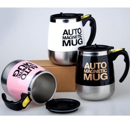 lazy mug Australia - Auto Magnetic Mug Coffee Milk Mix Cups 304 Stainless Steel Tumbler Creative Electric Lazy Self Stirring Mug J190716