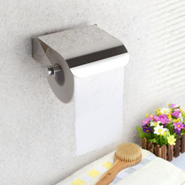 Glossy Paper Roll Australia - wholesale Stainless Steel Tissue Boxes Durable Bathroom Accessories Toilet Roll Paper Holder Tissue Storage Boxes Paper