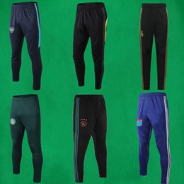 Wholesale united tracks for sale – custom 19 Real Madrid soccer pants United train pants Boca Juniors Football Long Trousers Flamengo track pants Mens Running Trousers