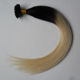$enCountryForm.capitalKeyWord Australia - Black And Blonde Ombre Virgin Mongolian Straight Remy Hair 100S Two tone Ombre Virgin Pre Bonded Keratin fusion Nail U TIP Human Hair Extens