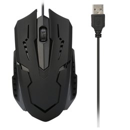 Dropped Laptop UK - For PC Laptop 1200 DPI USB Wired Optical Gaming Mice Mouses OC10 Drop shipping YE3.11