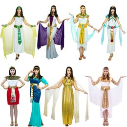 Wholesale sexy indian costumes women for sale - Group buy Adults Sexy Egyptian Pharaoh Costumes Queen Egyptian Pharaoh For Cleopatra Girls Halloween Party Fancy Dress Costume