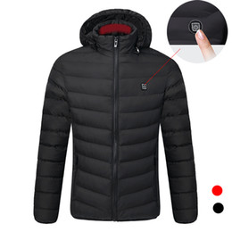 $enCountryForm.capitalKeyWord Australia - 2018 New Ourdoor Electric Heating Jackets Men Women Feather Down Cotton Heated Coats Winter Thermal Warm Hooded Clothing L-4XL