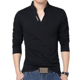 Mens Long Sleeve Red Polo Australia - Hot Men Polo Shirt Mens Long Sleeve Solid Polo Shirts Camisa Polos Masculina Casual Cotton Plus Size M- Xxxl 4xl 5xl Tops Tees