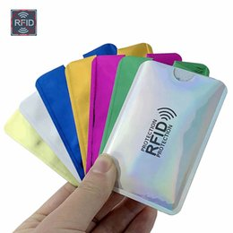 $enCountryForm.capitalKeyWord Australia - Anti Rfid Wallet Blocking Reader Lock Bank Card Holder Id Bank Card Case Protection Metal Credit NFC Holder Aluminium 6*9.3cm 042