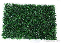 Green Plastic Grass Plant Australia - NEW 40x60cm Green Grass Artificial Turf Plants Garden Ornament Plastic Lawns Carpet Wall For Wedding Xmas Party Decorations